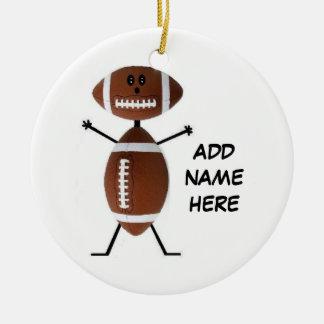 Personalized Football Star Ceramic Ornament