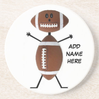 Personalized Football Star Drink Coaster