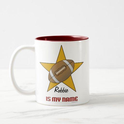 Personalized Football Star Mug