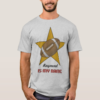 Personalized Football Star T-Shirt