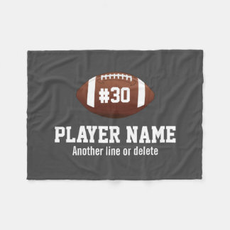 Personalized Football Team Name Jersey Number Fleece Blanket