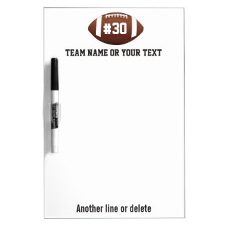 Personalized Football Team, Name, Number Dry-Erase Board