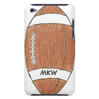 Personalized football themed iPod case Barely There iPod Covers