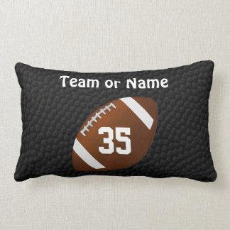 Personalized FOOTBALL Throw Pillows w/ 2 Text Box
