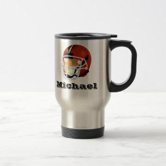 Personalized  Football Travel Mug
