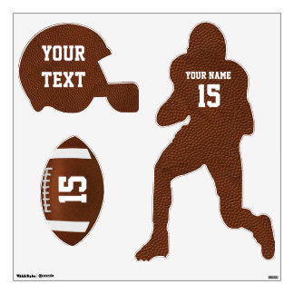 Personalized Football Wall Decals Set of 3