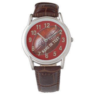 Personalized Football Watches, NAME, TEXT, Delete Wristwatch