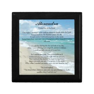 Personalized Footprints in the Sand Prayer Box Keepsake Box