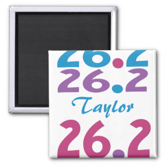 Personalized for 26.2 marathon 2 inch square magnet