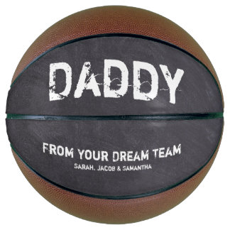 Personalized for Daddy, chalkboard etching Basketball