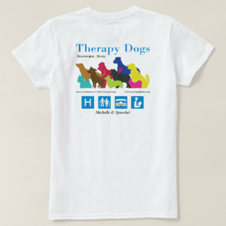 [Personalized - for light colors] Therapy Dogs BI T-Shirt