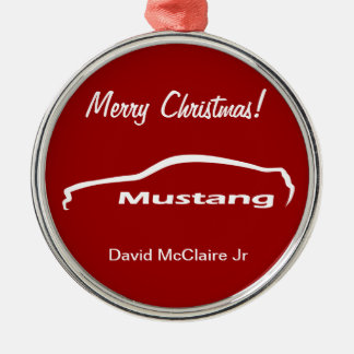 Personalized Ford Mustang - Red Ornament