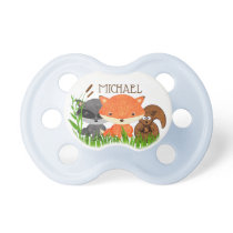 Personalized Forest Animals Baby Boy Pacifier