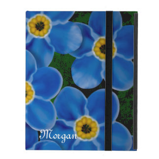 Personalized Forget-me-not iPad Case