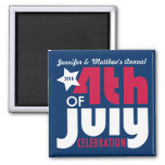 Personalized Fourth of July Celebration Magnet