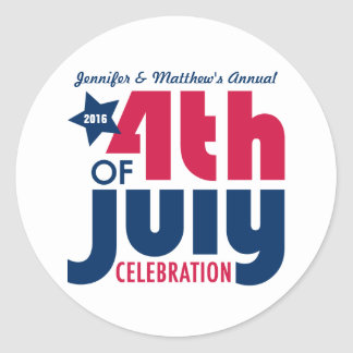 Personalized Fourth of July Celebration Stickers