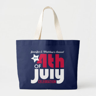 Personalized Fourth of July Celebration Tote