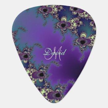 Personalized Fractal Design Custom Guitar Pick by UROCKDezineZone at Zazzle