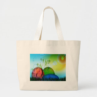 Personalized Fractal Easter Eggs Canvas Bags