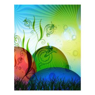 Personalized Fractal Easter Eggs Letterhead Template