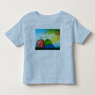 Personalized Fractal Easter Eggs Toddler T-shirt