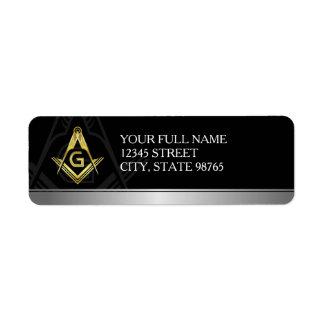 Personalized Freemason Return Address Labels