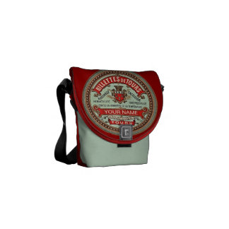 Personalized French Apothecary Label Courier Bag