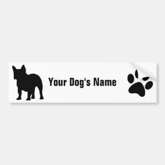 Personalized French Bulldog フレンチ・ブルドッグ Car Bumper Sticker