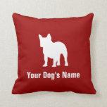 Personalized French Bulldog フレンチ・ブルドッグ Throw Pillow