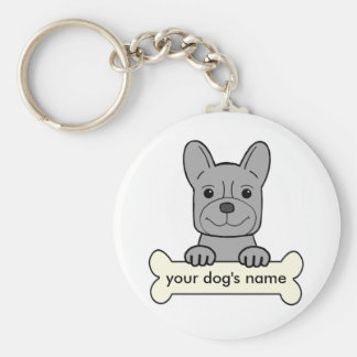 Personalized French Bulldog Keychain