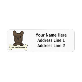 Personalized French Bulldog Label
