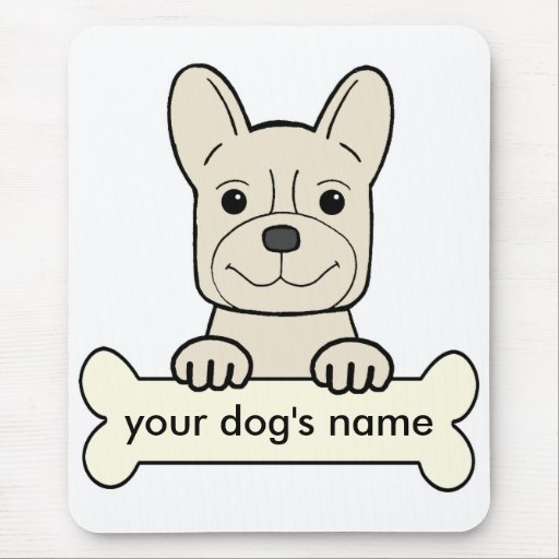 Personalized French Bulldog Mouse Pad