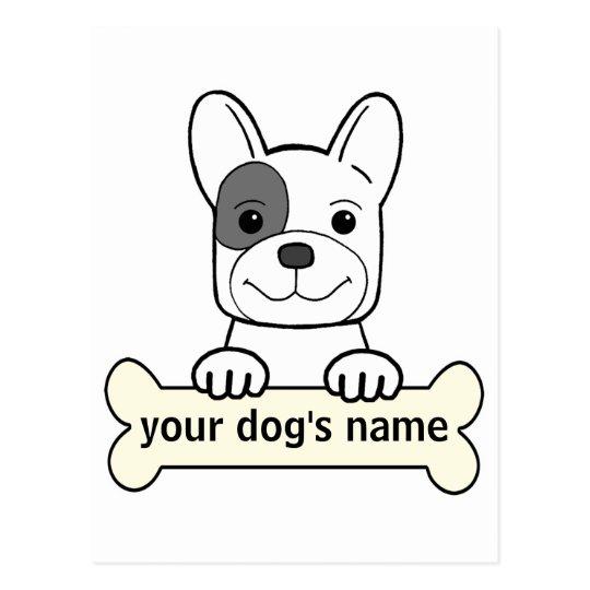 Personalized French Bulldog Postcard