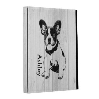Personalized French Bulldog Puppy Pick Your Color iPad Cases