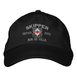 Personalized French Canadian Skipper Nautical Embroidered Baseball Cap