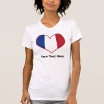 Personalized French Flag Heart Shirt