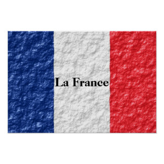 Personalized French Flag Poster