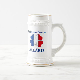 Personalized French Kiss Me I'm Allard 18 Oz Beer Stein