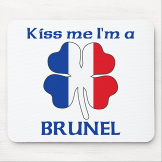 Personalized French Kiss Me I'm Brunel Mouse Mats