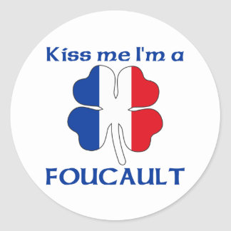 Personalized French Kiss Me I'm Foucault Classic Round Sticker