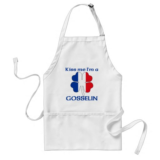 Personalized French Kiss Me I'm Gosselin Aprons