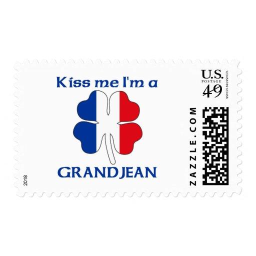 Personalized French Kiss Me I'm Grandjean Stamp