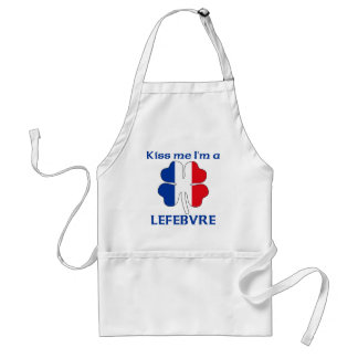 Personalized French Kiss Me I'm Lefebvre Adult Apron