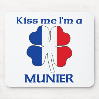 Personalized French Kiss Me I'm Munier Mouse Pad