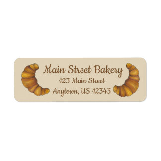 Personalized French Pastry Croissant Bakery Chef Label