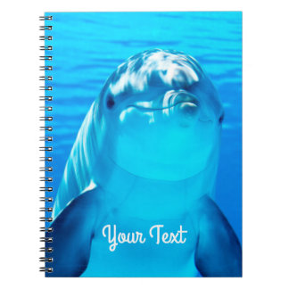 Personalized Friendly Dolphin Sea Life Notebook