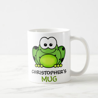 Personalized Frog Mug Basic White Mug