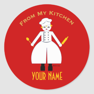 """Personalized """"From My Kitchen..."""" Sticker"""
