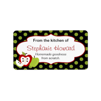 Personalized From The Kitchen With Apples Address Label