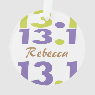 Personalized Front/Back 13.1 half marathon Runner Ornament